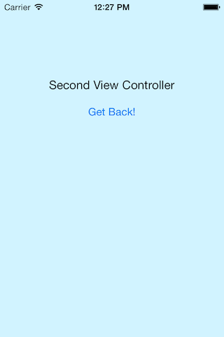 Second View Controller